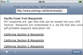 Topo Maps :: User Guide :: Waypoint Files